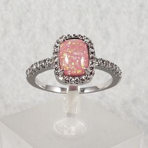 18k Pink Opal Ring